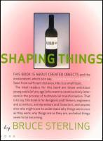 Shaping Things book summary