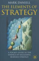 Elements of Strategy book summary