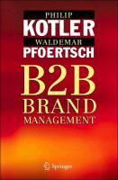 B2B Brand Management book summary