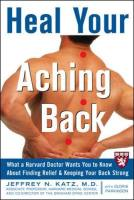 Heal Your Aching Back book summary