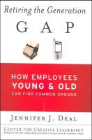 Retiring the Generation Gap book summary