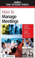 How to Manage Meetings book summary