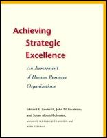 Achieving Strategic Excellence book summary