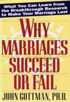Why Marriages Succeed or Fail book summary