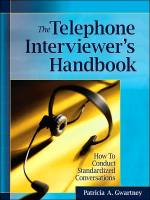 The Telephone Interviewer's Handbook book summary