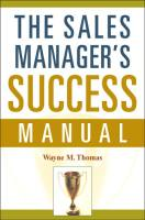The Sales Manager's Success Manual book summary