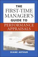 The First-Time Manager's Guide to Performance Appraisals book summary