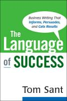 The Language of Success book summary
