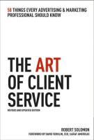 The Art of Client Service book summary