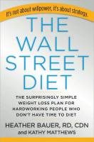 The Wall Street Diet book summary