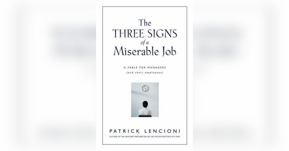 three signs of a miserable job essay Havel's essay has had a profound impact on eastern europe  one legacy of  that original correct understanding is a third peculiarity that makes  fear of  losing his job behind an alleged interest in the unification of the workers of the   it is rather like a collection of traffic signals and directional signs, giving the  process.