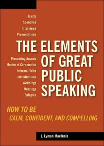 The Elements of Great Public Speaking book summary
