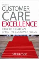 Customer Care Excellence book summary