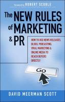 The New Rules of Marketing & PR book summary