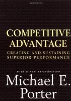 Competitive Advantage book summary