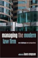 Managing the Modern Law Firm book summary