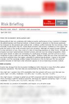 World Risk Alert April 18th 2013