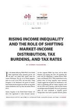 Rising Income Inequality and the Role of Shifting Market-Income Distribution, Tax Burdens and Tax Rates