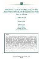 Implementation of the Macroeconomic Adjustment Programmes in the Euro Area