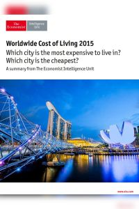 Worldwide Cost of Living 2015 summary