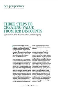 Three Steps to Creating Value from B2B Discounts summary