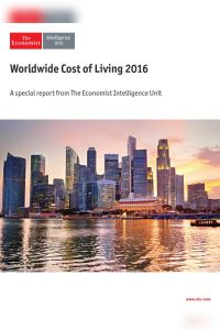 Worldwide Cost of Living 2016 summary
