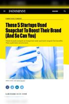 These 5 Startups Used Snapchat To Boost Their Brand (And So Can You)