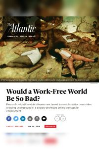 Would a Work-Free World Be So Bad? summary