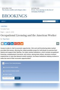 Occupational Licensing and the American Worker summary