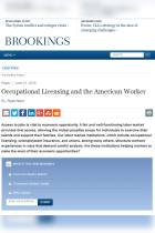 Occupational Licensing and the American Worker