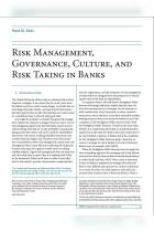 Risk Management, Governance, Culture, and Risk Taking in Banks