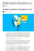The Myths and Realities of 'Doing What You Love'