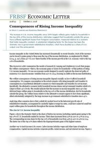 Consequences of Rising Income Inequality  summary