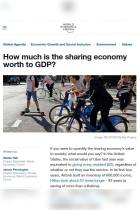 How Much Is the Sharing Economy Worth to GDP?