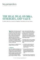 The Real Deal on M&A, Synergies, and Value