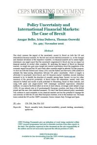 Policy Uncertainty and International Financial Markets summary