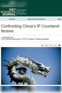 Confronting China's IP Counteroffensive summary