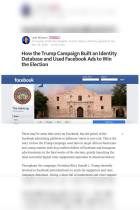How the Trump Campaign Built an Identity Database and Used Facebook Ads to Win the Election