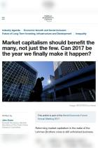 Market Capitalism Should Benefit the Many, Not Just the Few