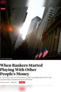 When Bankers Started Playing With Other People's Money summary