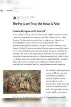 The Facts Are True, the News Is Fake