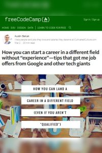 "How You Can Start a Career in a Different Field Without ""Experience""  summary"