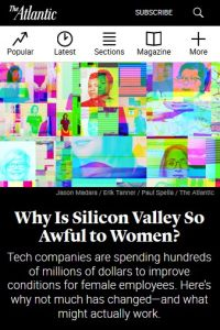 Why Is Silicon Valley So Awful to Women? summary