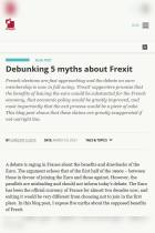 Debunking 5 Myths About Frexit