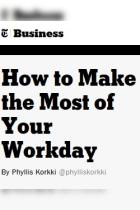 How to Make the Most of Your Workday