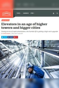 Elevators in an Age of Higher Towers and Bigger Cities summary