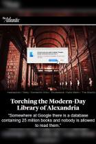 Torching the Modern-Day Library of Alexandria