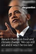 Barack Obama on Food and Climate Change
