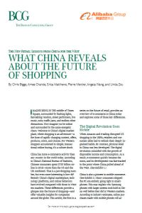 What China Reveals About the Future of Shopping summary