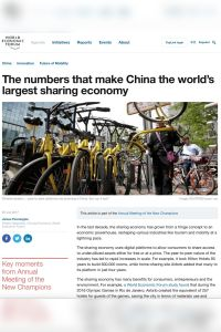 The Numbers That Make China the World's Largest Sharing Economy summary